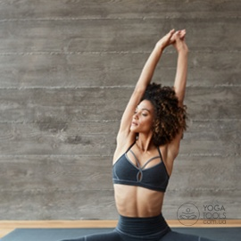 Топ для йоги eko® COTTON cross back grey, Manduka, USA