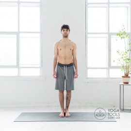 Шорты для йоги man grey SATORI, крапива, Yogatools