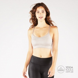Топ для йоги PINTUCK BRA taupe sheen, Manduka, USA
