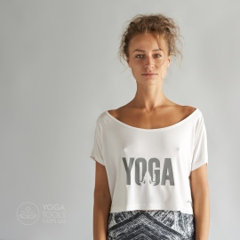 Футболка для йоги shORt YOGA White, крапива, Yogatools