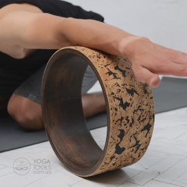 CORK dark Колесо для йоги (wooden yoga wheel),Yogatools,  клен, 32cm